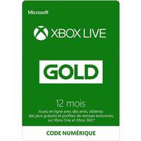 ABONNEMENT Abonnement Xbox Live Gold 12 mois / Version dématé
