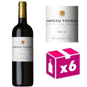 VIN ROUGE 6 bouteilles Château Tourans - St Emilion Grand Cr