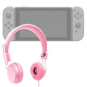HOUSSE DE TRANSPORT Casque rose enfant pour Console de jeux Nintendo S