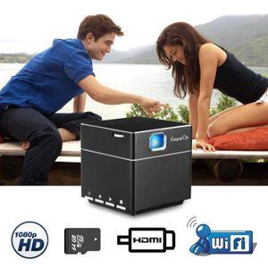 Vidéoprojecteur ExquizOn S6 Mini Vidéoprojecteur Cube DLP 1080P Sa