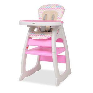 CHAISE HAUTE  Chaise Haute Enfant Convertible 3-en-1 avec Table
