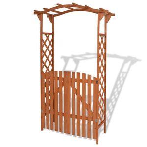 TONNELLE - BARNUM Arche pour jardin avec portique Bois massif 120 x