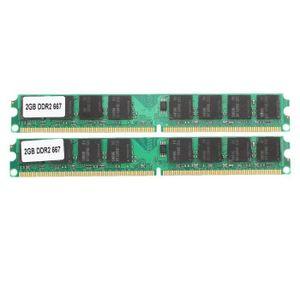 MÉMOIRE RAM 2x 2 Go de memoire RAM DDR2-667 PC2-5300 MHZ Non-E