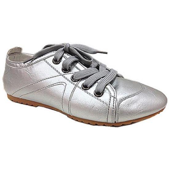 Fashionfolie888 Fashionfolie888 Fashionfolie888 - Baskets femmes chaussures lacets mode 999 ARGENTE  ARGENTE - Achat   Vente basket 80958f