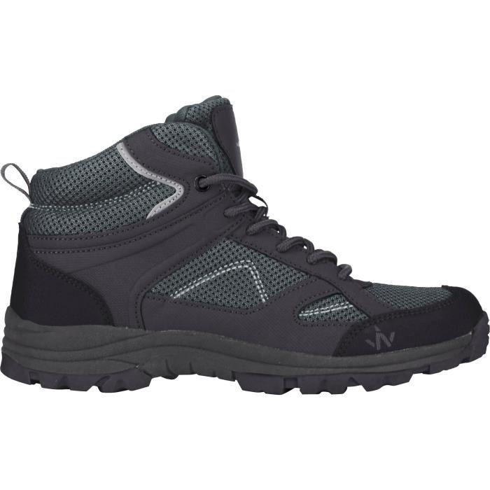 1ER PRIX Chaussures de randonnée Trek 100 Mid - Homme - Gris
