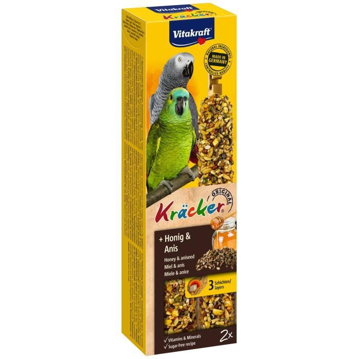 VITAKRAFT Kräcker Miel et anis P/2 - Pour perroquet