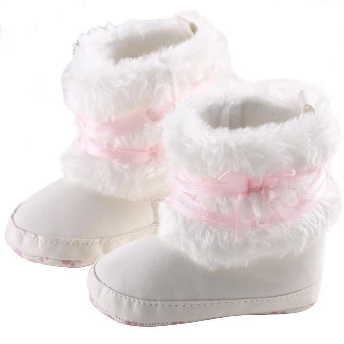 Bottes de Neige Souples de bébé en forme de la Fleur blanc 11 cm lLLIBASvRE