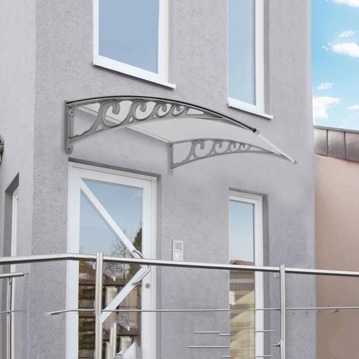 Auvent Marquise De Porte Fenêtre 150x100cm En Polycarbonate Supports