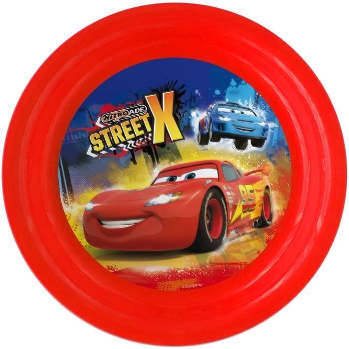 CARS Assiette Plate - Ø20 cm - Motifs Street X - Rouge