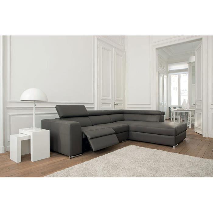 Canapé d\'angle de relaxation électrique en PU ERNESTO, plusieurs ...