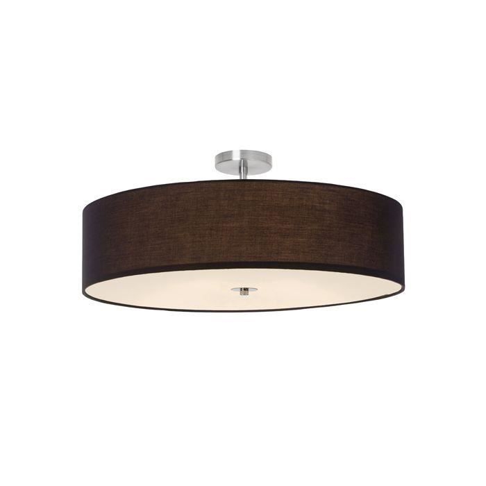 Plafonnier 3 lumières -Ø: 60cm ANDRIA -3x60W E27 -GRIS FONCE - BRILLIANT - 93522_63