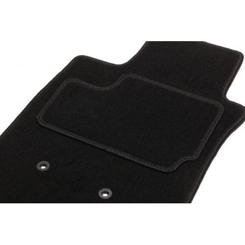 Tapis Peugeot  - 2 Avants () noir Moquette Aiguillete de 750g/m2+ss couche 1200g/m2 + Contour avec Surjet fil assorti au coloris ...
