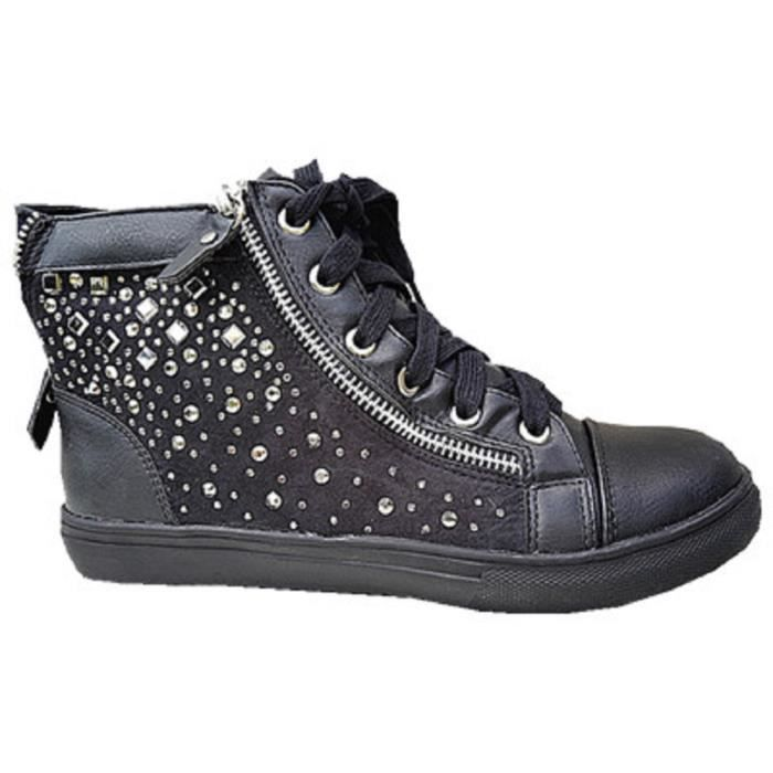 Baskets Montante Strass Zip Femme Fille Lacet Mode Chaussures 3348 Dipuhvuh-015237-4720497 Moderate Price