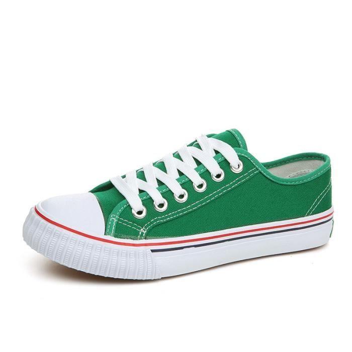 6 Couleurs Unisexe Toile Chaussures Hommes Casual Chaussures à Lacets Hommes Appartements Chaussures Pour Hommes Espadrilles Zapatos 1sP49WN