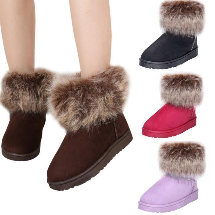 Femmes bottes de neige chaussures d'hiver bw