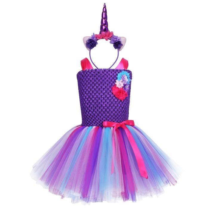 Déguisement Licorne Fille Enfant Florale Robe Princesse Costume 2 12