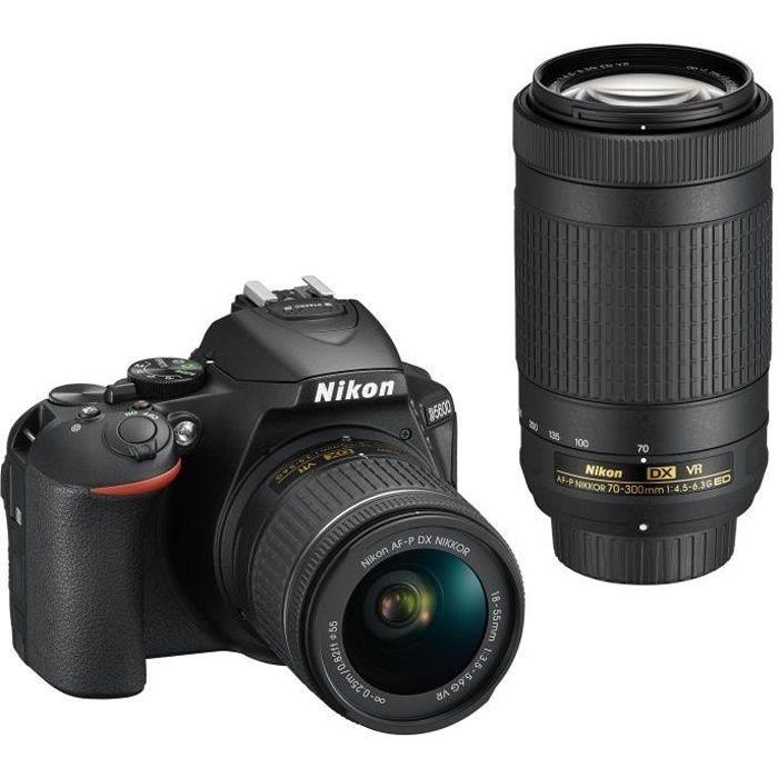 APPAREIL PHOTO RÉFLEX Pack Expert : NIKON D5600 + 2 Objectifs  AF-P 18-5
