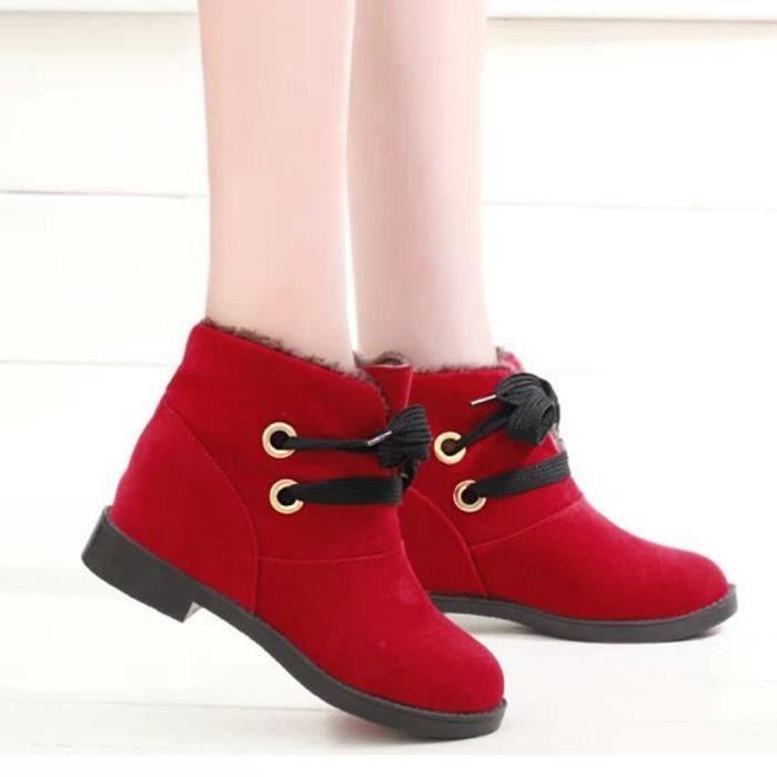 Les femmes bottes de lacet bottes d'hiver bottines chaudes bottines chaudes chaussures d'hiver XXL70830495
