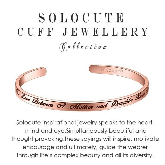 Womens Cuff Bangle Bracelet Engraved the Love Between A Mother And Daughter Knows No Distance In V88M9