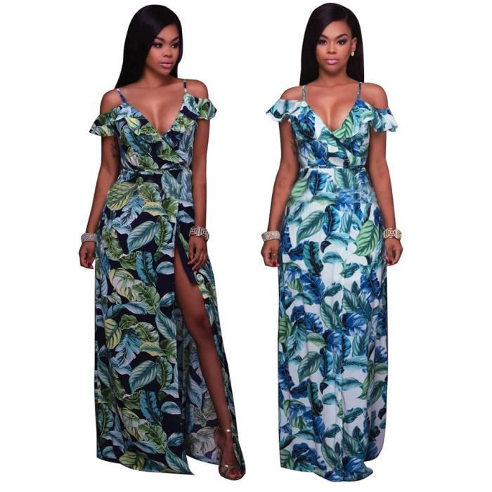 Femme Robes Vetements Nouvelle Mode irrégulier 3D Impression Vetement Collier V Loisirs Slim