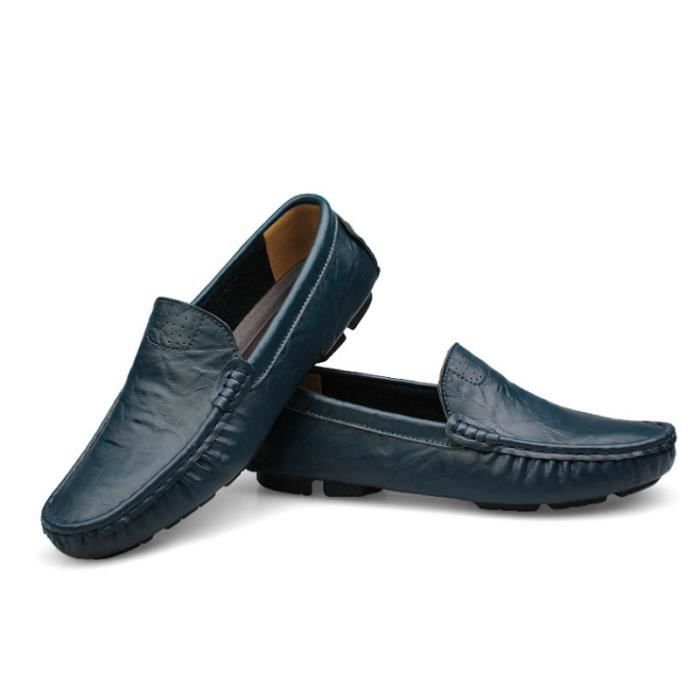 Mocassin Hommes Mode Chaussures Grande Taille Chaussures BBZH-XZ73Bleu36