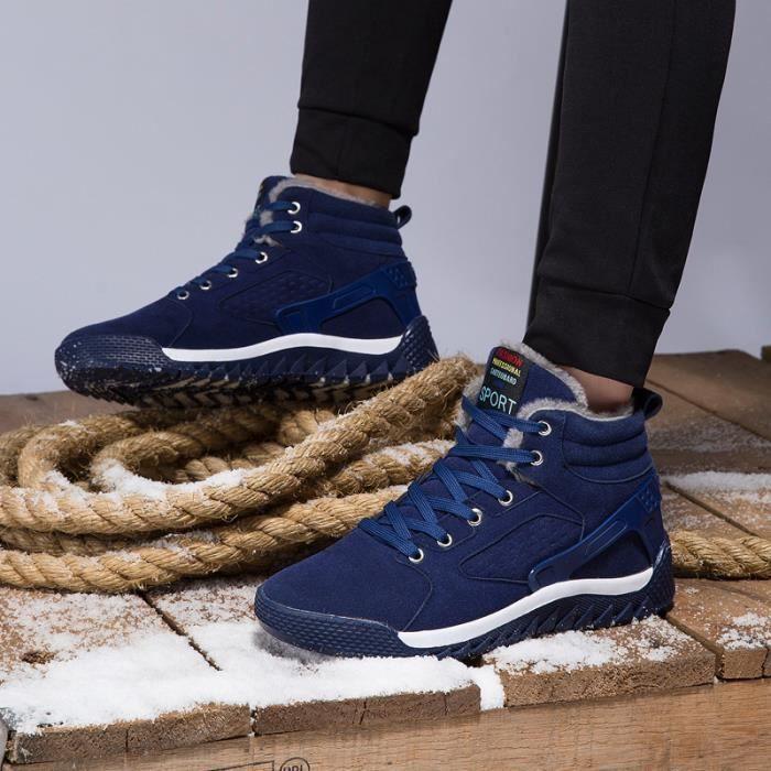 Bottes homme Bottes courtes Bottes avec coton Bottes hiver Bottes mode Chaussures chaudement Chaussures montantes Chaussures XFKLPWT3