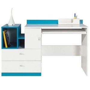 BUREAU  Bureau MOBI bleu 130cm - Chambres d'enfant