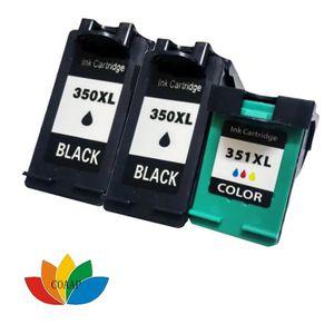 CARTOUCHE IMPRIMANTE 3 cartouches d'encre compatibles HP 350 351 hp350