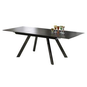 TABLE À MANGER SEULE Table à manger extensible avec plateau en verre tr