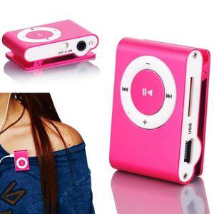 LECTEUR MP3 Mini Mp3 Player Homdox Avec Micro - TF Slot Rose e
