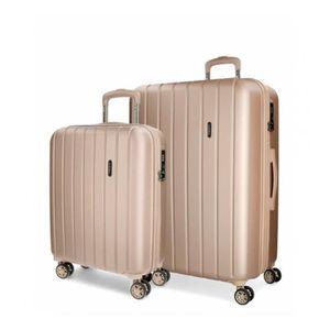 SET DE VALISES Set de valises Movom Wood Champagne -38,5x55x20cm