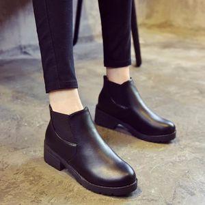 Bottes de cheville de femme lacet-vers le bas talons d'automne de botte quatre chaussures de saisons zaG0JZv