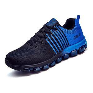 un de Bleu qualité Chaussures tissé Tout tissu Haute Basket Chaussures sport Voler d'air Homme coussin Noir Zn87B