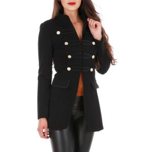 Veste officier cintree- noir
