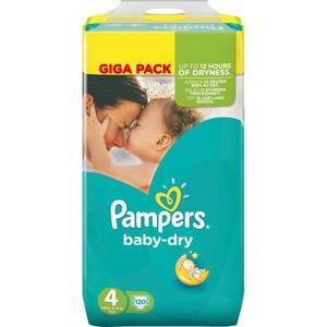 COUCHE PAMPERS BABY DRY Couches Bébé Taille 4 - 8 à 16 kg
