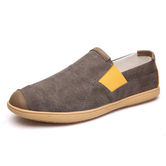 Chaussures Pour Hommes Le Nouveau Commerce Chaussures Écontractées Pois Chaussures Marron Marron - Achat / Vente basket
