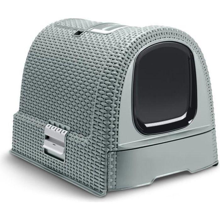 22db0ee2f1741f CURVER Maison de toilette - Bleu gris - Pour chat - Achat   Vente ...
