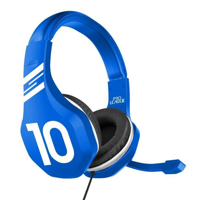 Subsonic - Casque Gaming avec micro pour Playstation 4 - PS4 Slim - PS4 Pro - Xbox One - PC - Edition Football 2018 Bleu