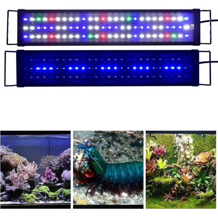 60cm Lampe D Aquarium Lumiere D Eclairage Bleu Blanc Rouge Spectre