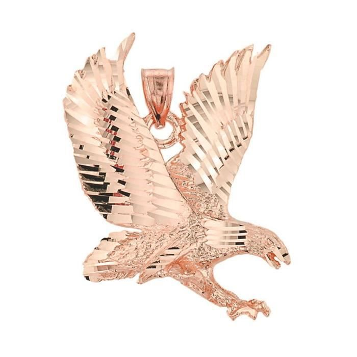 Collier Pendentif14 ct 585/1000 Rose Or Eagle