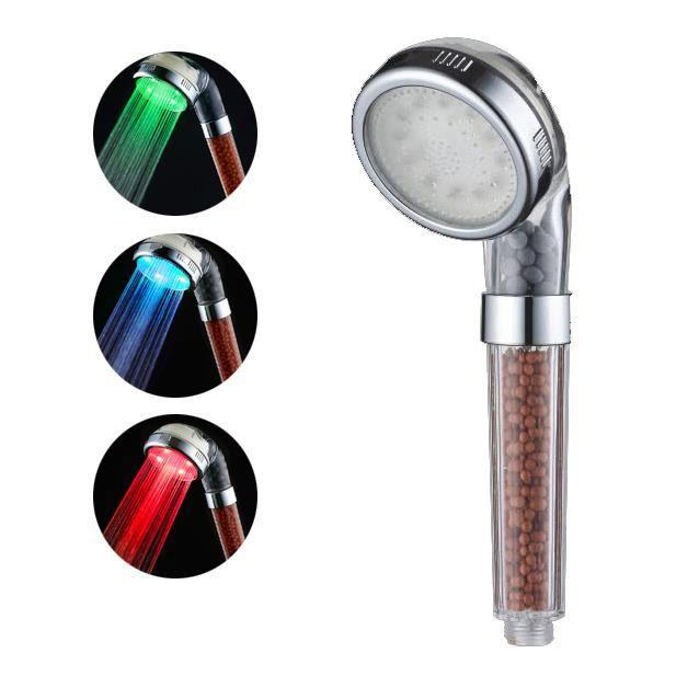 DOUCHETTE - FLEXIBLE Douchette EcoThermale LED thermo-réactif