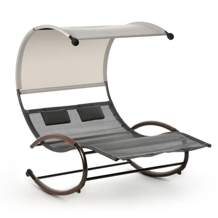 Balancelle Double design balançoire chaise longue de soleil balancelle salon double