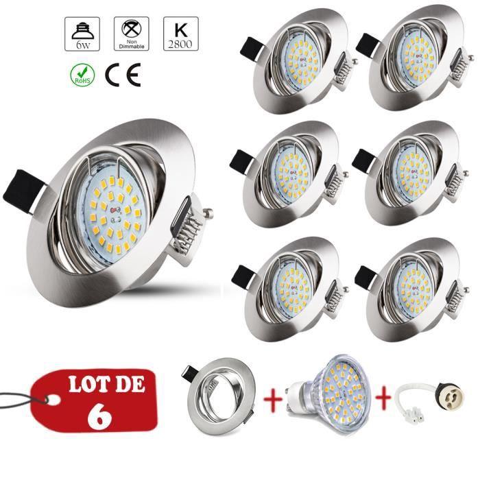 SPOTS - LIGNE DE SPOTS Wowatt Spots Orientable LED Rond GU10 Ampoule à LE