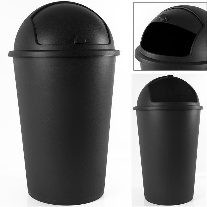 poubelle ronde cuisine couvercle basculant rigide achat. Black Bedroom Furniture Sets. Home Design Ideas