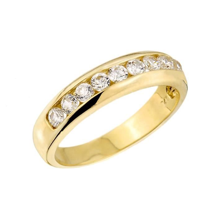 Bague Unisexee Alliance 10 ct Or 471/1000 Unisexe Diamant
