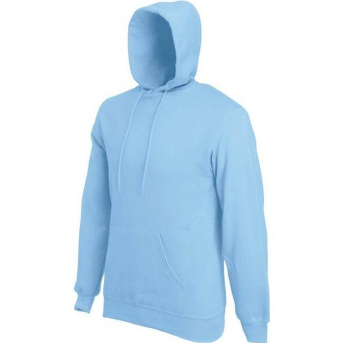 Sweat Capuche Bleu Ciel Uni mixte Homme-Femme.SC244C.Fruit of the ... d068b7cd4f9d