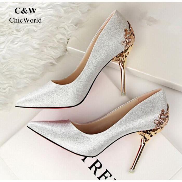 Fais de mon Femme mieux pour ton voyage - chaussures Chaussure Femme mon Nouveau Mode Coréenne Métal Scu jXzEW4 c67bb1