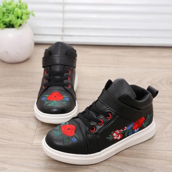 BASKET Baskets Chaussures Velcro Enfant Fille