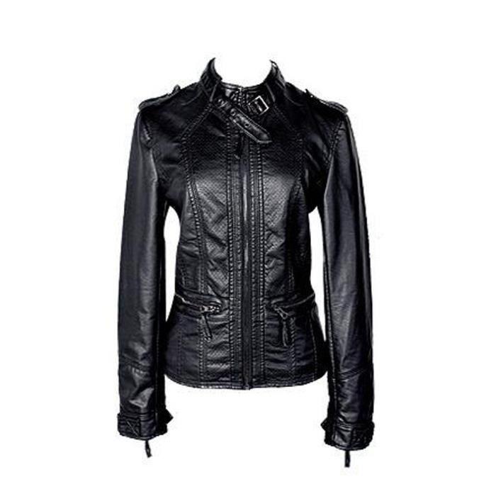 Taille À Cuir Blouson Femme Xxxxxl Pu S Veste Moto Grande Jacket En vHwav8x