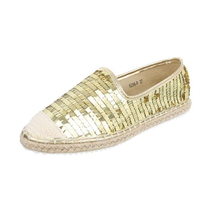 Chaussures 41 Gris or neurs Femme Espadrilles Mocassin noir argent Or Fl wqCOxH